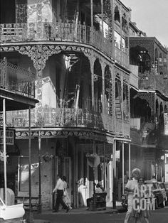 The Intricate Iron Work Balconies of New Orleans' French Quarter Photographic Print at Art.com