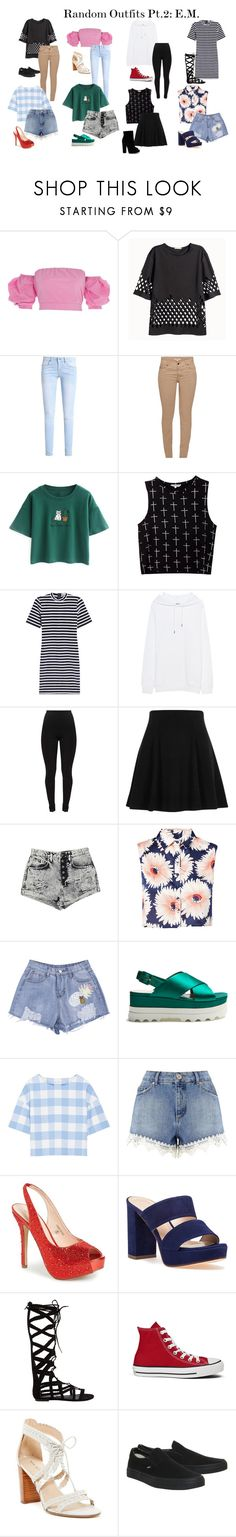 """Random Outfits Pt.2: E.M."" by zhangmaryliu2002 on Polyvore featuring River Island, H&M, Barbour, Chicnova Fashion, T By Alexander Wang, Acne Studios, Carmar, Parisian, Miu Miu and Oscar de la Renta"