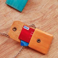 UnimiStore Leather card holder handmade mini wallet original design creative unique T21
