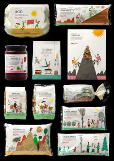 Here you go Olmo, ICA #packaging via klas fahlen food #branding
