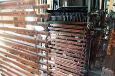 Computer weaving of its time. Binary code circa 1880: Detail of a Dobby Chain and Dobby Head Crompton & Knowles Narrow Fabric Loom, Slater Mill Museum, Pawtucket, RI | Flickr - Photo Sharing!
