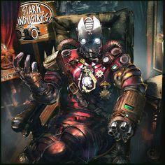 Steampunk Iron Man – fan art by klaus wittmann