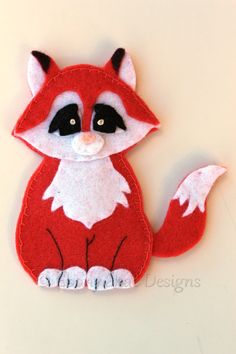 Felt Fox Finger Puppet Pattern. INSTANT DOWNLOAD by EbonyShae