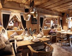 Chalet Design, Chalet Style, House Rooms, Spa, Restaurant Design, Modern, Table Settings, Interior Design, Country