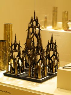 WWII trench art--sculpture made of rifle cartridges