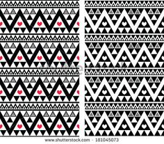 Tribal aztec colorful seamless pattern with heart - two versions by RedKoala #aztecprint #phonecover