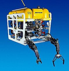 Remotely Operated vehicles, or ROV's are small unmanned devices that are controlled by an operator. They basically underwater robots that collect data from the seafloor.