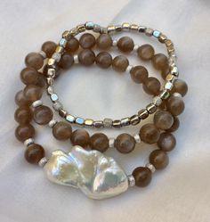 Beaded Bracelets, Jewelry, Fashion, Jewlery, Jewellery Making, Moda, Jewels, Fashion Styles, Pearl Bracelets