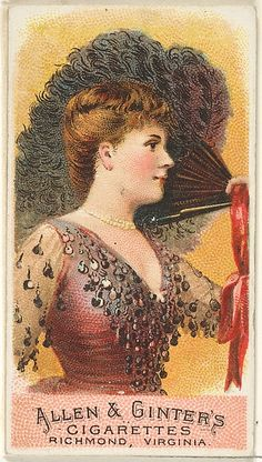 Plate 1, from the Fans of the Period series (N7) for Allen & Ginter Cigarettes Brands
