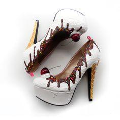 Shoe Bakery - Vanilla Ice Cream Heels