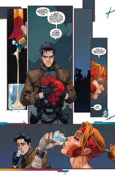 """RED HOOD AND THE OUTLAWS #8 PREVIEW """"Written by Scott Lobdell Art by Kenneth Rocafort , Variant Cover by Guillem March Colors by Dan Brown """" """"WHO IS ARTEMIS?"""" prologue! As Red Hood and the Outlaws..."""