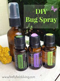 DIY Bug Spray and Insect Repellent Blend:  20 drops TerraShield 15 drops Lemongrass 15 drops Lavender  Add essential oil and top off with water or Fractionated Coconut Oil in a 15ml Spray bottle. Gently shake before use and spray on skin before going outdoors.  Other great bug-repelling oils: Citronella, Peppermint, Melaleuca, Cedarwood, Sandalwood.