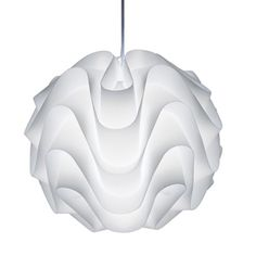 I don't want to compete with the ceiling, but I liked the all white effect of this light .  It also reminds me of whipped cream.
