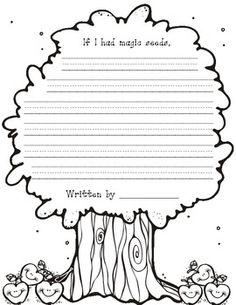 Cute writing paper for Kindergarten.  Students can write about what would happen if they had magic seeds.  Great for plant unit and a writing activity.