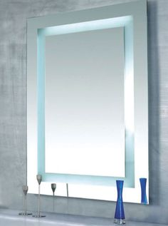 As functional as it is decorative, the Plaza Large LED provides an even flow of illumination | Lighted Mirrors | LED lighting Ideas for the Bathroom and Bathroom Vanities | Plaza Large LED - by Edge Lighting