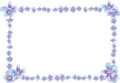 free digital blue flower frame: faux vintage forget-me-not frame – Blumenrahmen png – freebie | MeinLilaPark – DIY printables and downloads
