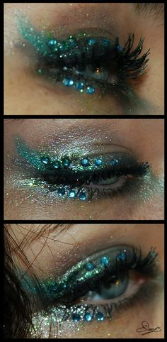 Tolles Meerjungfrauen Make-up!de Tolles Meerjungfrauen Make-up! Tolles Meerjungfrauen Make-up!de Tolles Meerjungfrauen Make-up! Mermaid Eyes, Mermaid Makeup, Mermaid Costume Makeup, Medusa Makeup, Siren Costume, Peacock Makeup, Fish Makeup, Peacock Costume, Deer Costume
