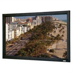 "Da-Lite 33093V High Contrast Cinema Perforated Cinema Contour Fixed Frame Screen - 40 1/2"" x 95"" Cinemascope Format by Da-Lite. $1576.99. 33093V Features: -Cinema Contour has a 45-degree angle cut frame for a sleek, modern appearance..-Provides a perfectly flat viewing surface for video projection applications..-Surface mounts to the back of an aluminum frame that provides a masking border..-Front projection surfaces standard with black backing for opacity.. Options: -A..."