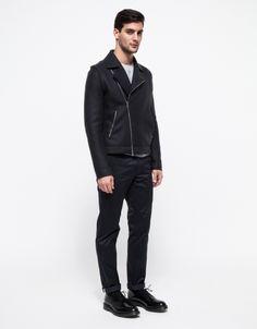 Gorgeous Harris Wharf London pressed wool motorcycle jacket.