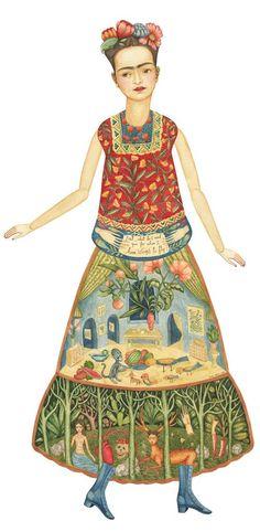 Elsa Mora's Frida Khalo paper doll