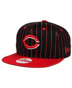 New Era Cincinnati Reds Vintage Pinstripe 9FIFTY Snapback Cap Cincinnati  Reds Hats 8de1090de8c