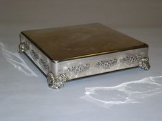 Square Silver Cake Stand.  Cakes By Graham, More than Just the Icing on the Cake.  http://richmondcakes.com/