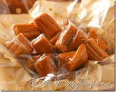 Honey Cream Taffy Recipe -An old-fashioned favorite, this golden taffy gets my whole family pulling together in a special way! We wrap the melt-in-your mouth confections in twists of waxed paper and give them out to our holiday visitors. Diabetic Desserts, Diabetic Foods, Diabetic Recipes, Honey Candy, Cookie Recipes, Dessert Recipes, Creamed Honey, Honey Recipes, Homemade Candies