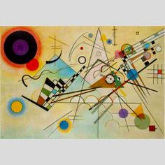 (Kandinsky) combination of lines, triangles and circles ignites active but contained energy