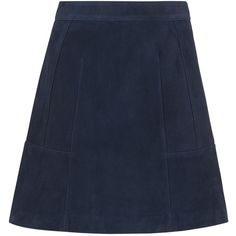 Whistles Leonie Suede Mini Skirt, Navy (10.360 RUB) ❤ liked on Polyvore featuring skirts, mini skirts, short a line skirt, suede a line skirt, suede skirt, short skirts and navy mini skirt