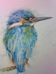 Kingfisher Framed Watercolour By Sylvia Farrow - Arthouse Gallery