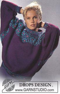 Sweater i Karisma med nordiske roser ~ DROPS Design