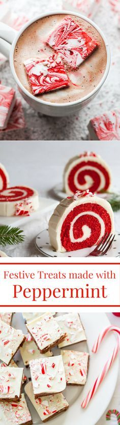 Festive Holiday Treats made with Peppermint!