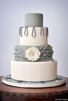 41 Best Grey And White Wedding Cakes Images Gray Wedding Cakes