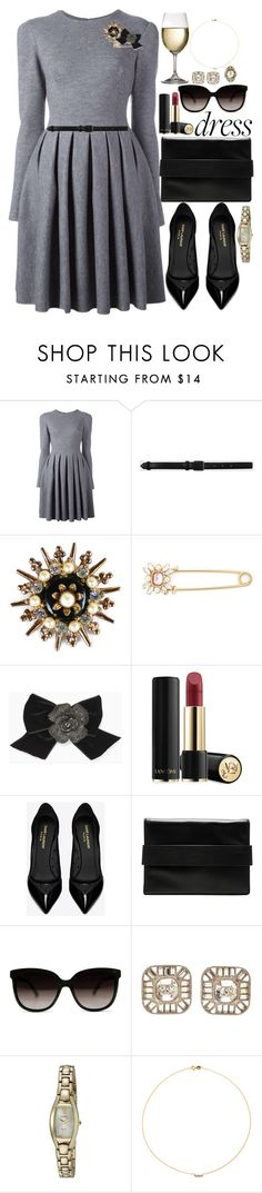 """""""Untitled #529"""" by jordan-mobley ❤ liked on Polyvore featuring Ermanno Scervino, Life With Bird, Cara, Kate Spade, Lancôme, Yves Saint Laurent, Kendall + Kylie, Chanel, Seiko Watches and Sole Society"""