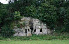 The British gentry hired live hermits in the century to live in places like this one in Foremark. The Hermit Tarot, Garden Photos, Gnome Garden, Old Buildings, Garden Ornaments, 18th Century, Mount Rushmore, In The Heights, England