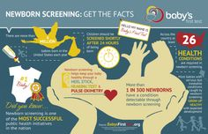 Newborn Screening: Get the Facts[INFOGRAPHIC] #newborn #screening #facts