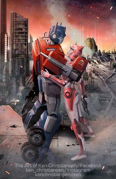 BotCon 2016 Art Prints: Optimus Prime and Elita One