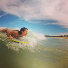#instagram larissanoel #praiadoriodabarra #bodyboard #surf #trancoso #bahia #brazil #goprosurf #paradise #viagepelobrasil #mtur #obrasilpelosbrasileiros #vacation #summer