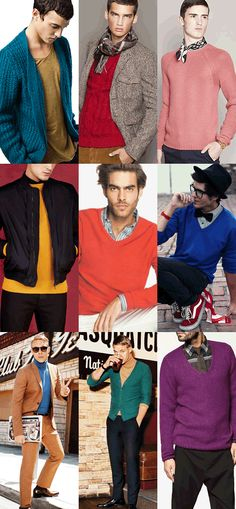 Men's Coloured Knitwear Look Book