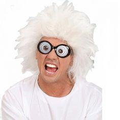 Witte pruik idioot  Witte pruik gekke professor. Pruik met wit haar dat alle kanten op staat.  EUR 13.95  Meer informatie