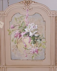 This painted fireplace screen...beautiful