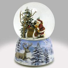 Here Comes Santa Claus Snow Globe