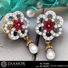 Florinia Dropping Pearl Stud Earrings
