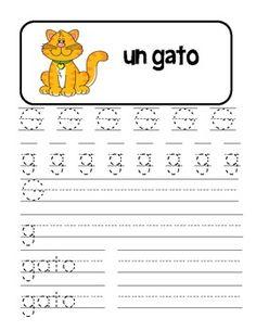 Spanish Alphabet Handwriting Practice