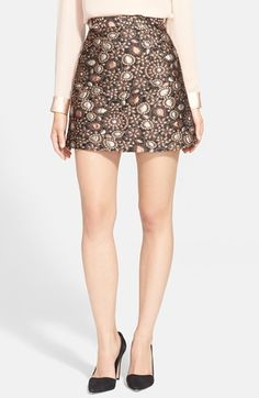 Alice + Olivia 'Jessa' A-Line Skirt available at #Nordstrom