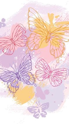 Colorfull Wallpaper, Floral Wallpaper Phone, Pink Wallpaper Girly, Butterfly Wallpaper, Flower Background Wallpaper, Cute Wallpaper For Phone, Cute Patterns Wallpaper, Iphone Background Wallpaper, Aesthetic Iphone Wallpaper