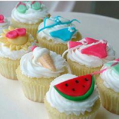 Summer Item Cupcakes