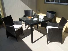 Enjoy the great outdoors in luxury around your stylish and oversized Roman outdoor dining setting. UV resistant PE wicker and Tempered glass table top. Outdoor Tables, Outdoor Dining, Outdoor Decor, Romans 4, Tempered Glass Table Top, Outdoor Wicker Furniture, Outdoor Settings, Luxury, Home Decor