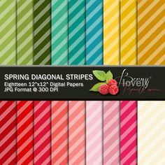 Stripes Digital Paper Pack, printable, great for scrapbooking and more. For sale for $2.50 at my shop on Etsy.com. :)