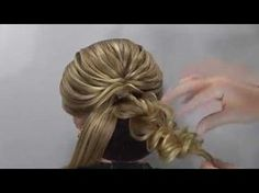 "Hairstyle for long hair - Коса с резинками - ""Сердечки"" - Hairstyles by REM - YouTube"